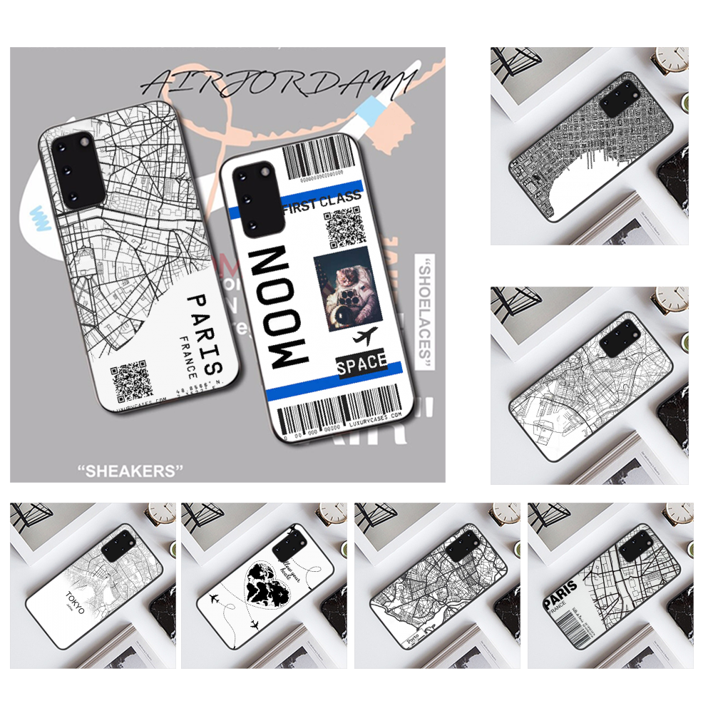 NBDRUICAI Ins Exclusive City Map Coque Shell Phone Case for Samsung S20 plus ultra S6 S7 edge S8 S9 plus S10 5G image