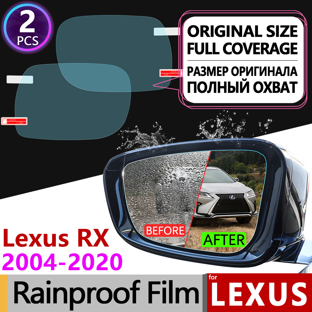 สำหรับ Lexus RX 2004-2020 RX300 RX330 RX350 RX270 RX200t RX450h 350 ฝาครอบหมอกภาพยนตร์กระจกมองหลังกันฝนอุปกรณ์เสริม