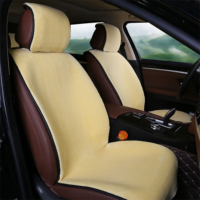 Hot Sale Car Front Seat Plush Covers Faux Fur Car Seat Cover New Universal Plush Car Pad Seat Cover Interior Accessories
