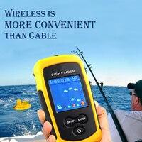 Puleleisure 2020 portátil fishfinder alarme de pesca inventor de peixes sonar lcd isca de pesca echo sonder inventor de pesca alarme 100 m conjunto Localizadores de peixe     -