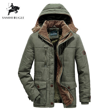 2019 New Fashion Winter Jacket Men Outwear Breathable Warm Coat Parkas Thickening Casual Cotton-Padded Jacket Fleece Parkas