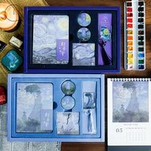 العالم الشهير لوحات فان جوخ فارغة كراسة الرسم مذكرات الرسم اللوحة دفتر مجموعة كتاب رسم اللوازم المدرسية هدية عيد ميلاد