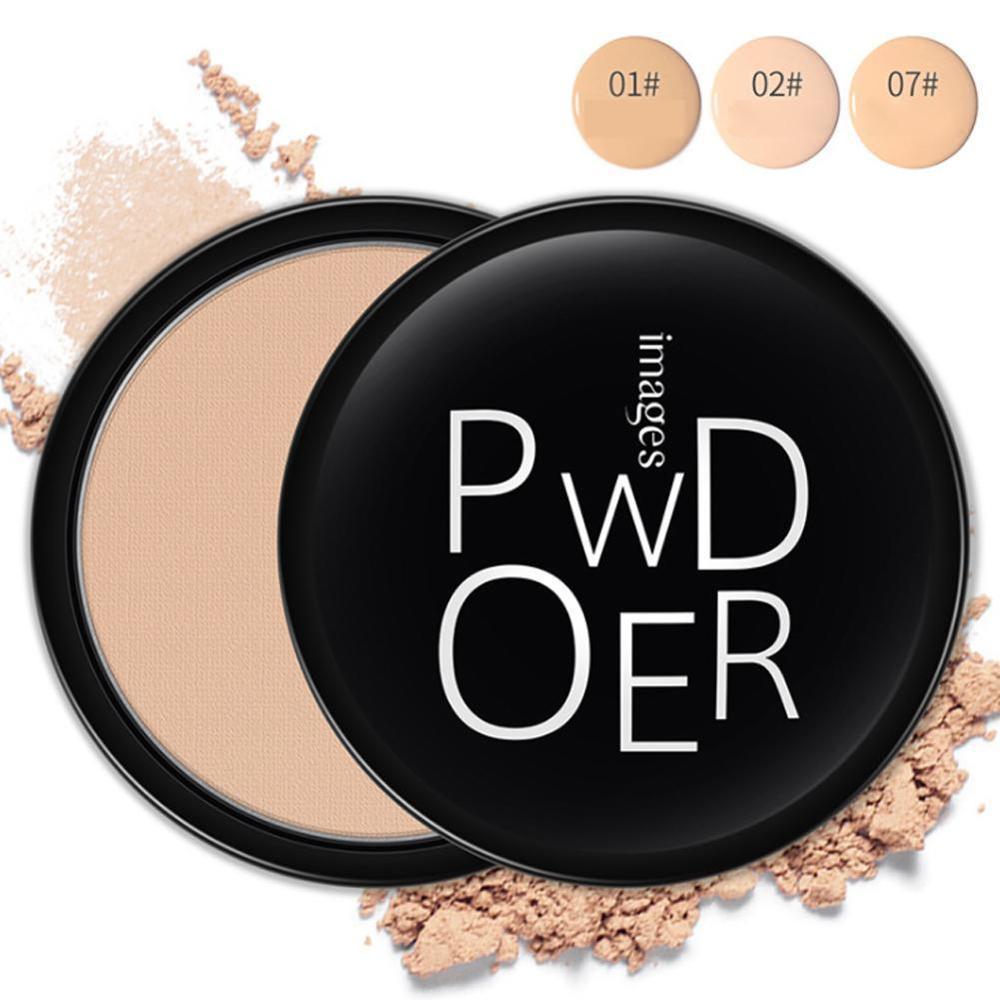 Face Makeup Powder 3 Color Soft Oil-control Makeup Foundation Powder Setting Moisture Pressed Whitening Brighten Concealer F7B9
