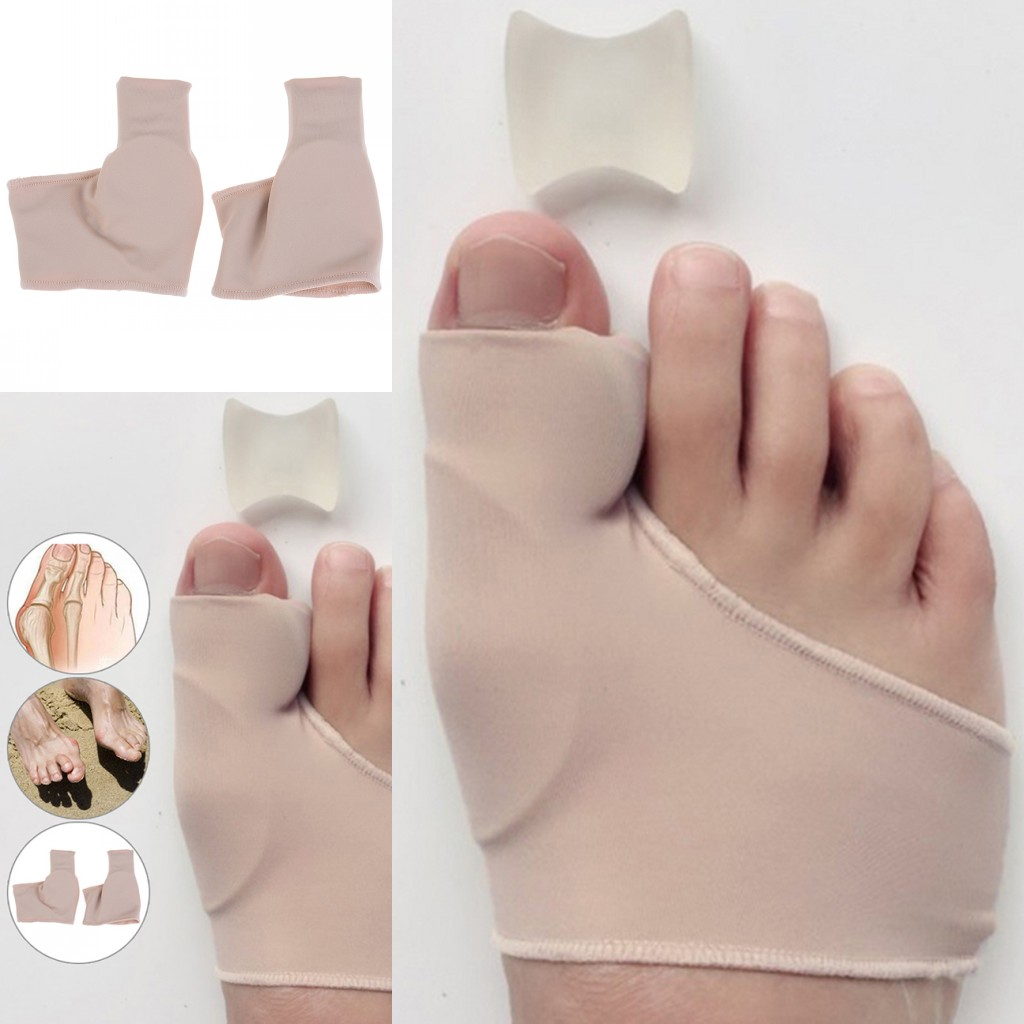 1 Pair Bunion Corrector Gel Pad Stretch Nylon Hallux Valgus Protector Guard Toe Separator Orthopedic Protector New Hot