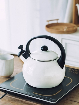 Japanese porcelain enameled water kettle thicken whistle household electromagnetic oven burning kettle gas teapot teakettle