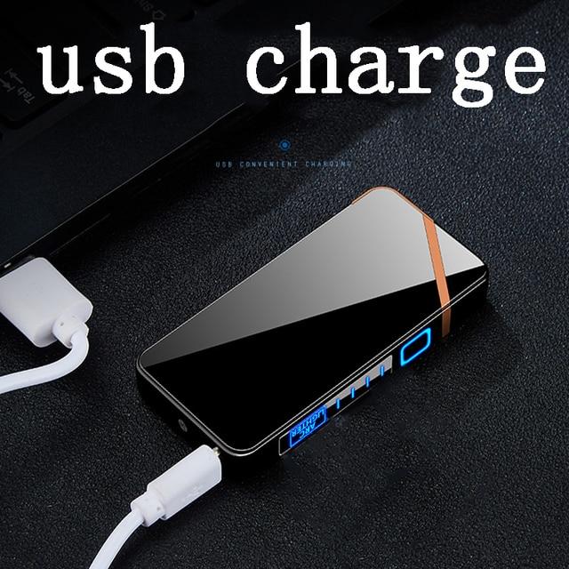 Allume-cigare Plasma rechargeable USB à double ARC pour fumer briquet sans flamme coupe-vent