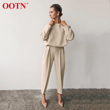 OOTN Casual Khaki Long Sleeve Shirt Ladies O Neck Solid Office Blouses 2020 Fashion Spring Summer Womens Tops And Blouses Brown