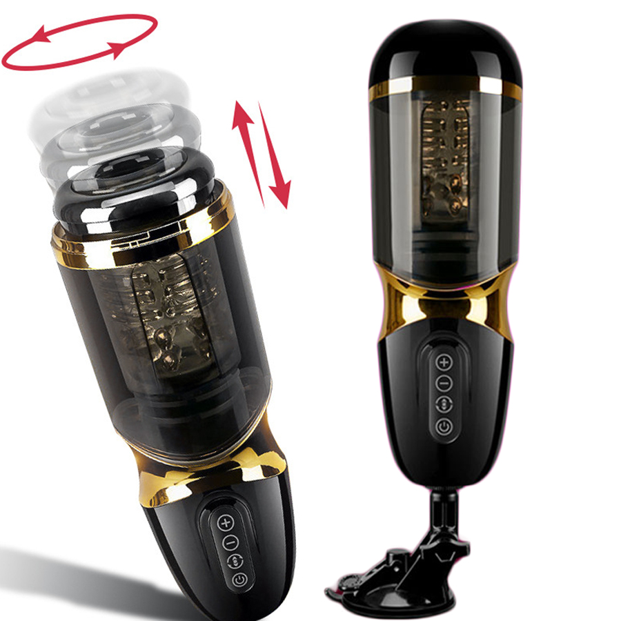 Powerful Automatic Telescopic Rotation Masturbator Adult Sex Toys For Men Real Vagina Pussy Masturbation Cup Penis Massager Shop in Vibrators from Beauty Health