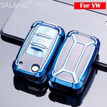 TPU Car Key Case Cover For VW Volkwagen Polo Bora Tiguan Passat Golf 6 Lavida Scirocco Fabia Protection Shell Auto Accessories