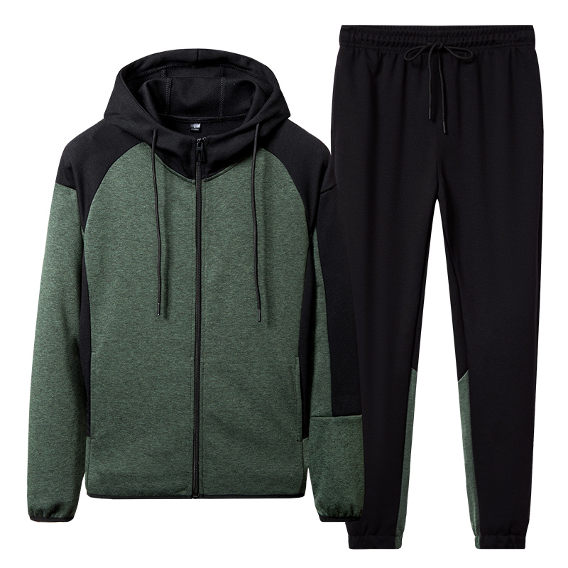 Men 's Tracksuit Autumn Hooded Jackets+Ankle Pant 2 Pieces Sets Male Slim Fit Sportswear Set New Fashion Men Clothing Asian Size