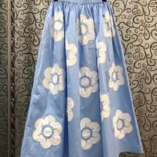 100%Cotton Skirts 2020 Summer Casual Skirt Women Color Block