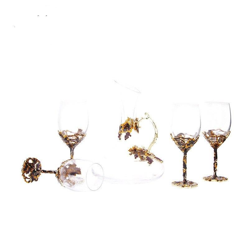 ¡Oferta! juego de Bar de cristal de estilo chino, herramientas de Bar, tapón de copa de vino tinto, separador de vino, juego de vino para regalo, vino exótico - 2