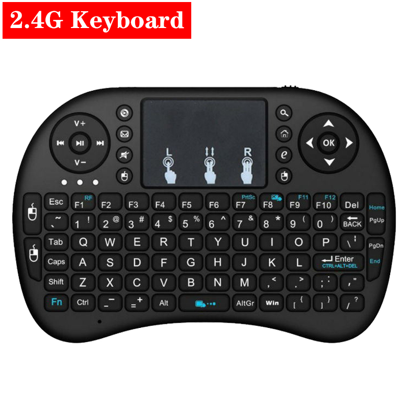 2.4G Wireless Mini Keyboard With Touch Pad Remote Control For PC Laptop Android TV Box Smart TV For Raspberry Pi 4B 3B 3