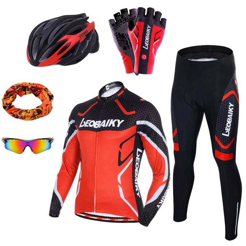 プロチームサイクリング服メンズ長袖自転車ジャージセットスポーツmtb着用メンズ服男性ライディングスーツ