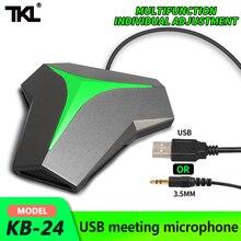 TKL USB/3.5 konferans mikrofonu çok yönlü kondenser Microfono tak ve çalıştır PC oyun için Mic Youtube toplantı