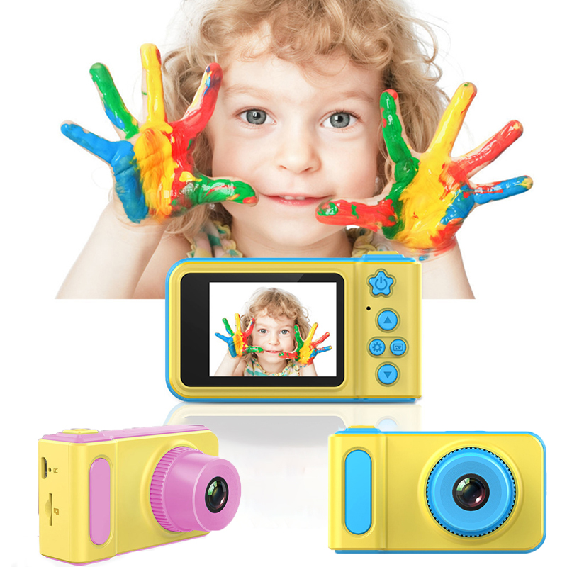 Mini Children Camera 1080p HD 2inch Large Screen Kids Digital Camera Toy Children Birthday Gift Educational Toy Dropshipping