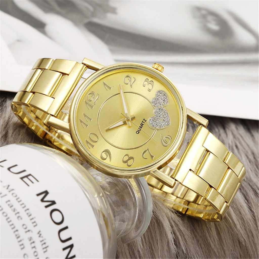 ใหม่หรูหราผู้หญิงนาฬิกาข้อมือนาฬิกาควอตซ์สแตนเลสสตีล Casual สร้อยข้อมือนาฬิกานาฬิกาข้อมือแฟชั่นผู้หญิงนาฬิกาข้อมือ reloj mujer