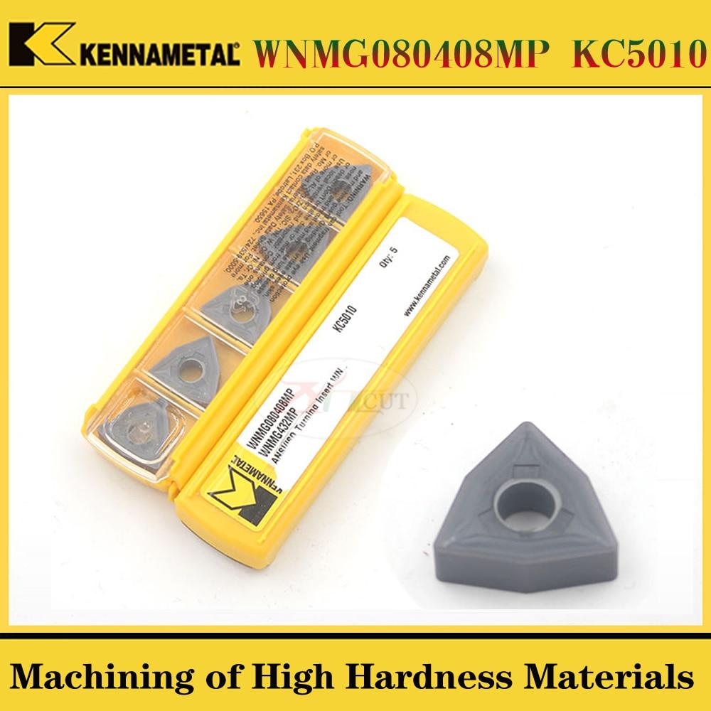 10PCS Kennametal  WNMG080404FP WNMG080408MP KC5010 High Hardness Stainless Steel Turning Blade
