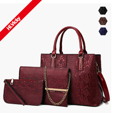 Women Composite Bags Set 3 Pcs PU Leather Handbag Large Capacity Tote Bag Ladies Shoulder Messenger Bag Purse Female Sac a Main 3 sets handbag women composite bag female large capacity tote messenger bag fashion shoulder crossbody bag small purse card bags