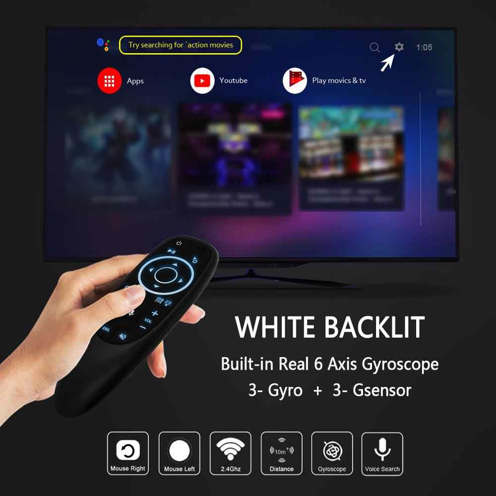 Control de voz Air Mouse L8STAR G10 con receptor USB de 2,4G, giroscopio, Mini Control remoto inalámbrico inteligente para Android TV BOX HK1 X96mini
