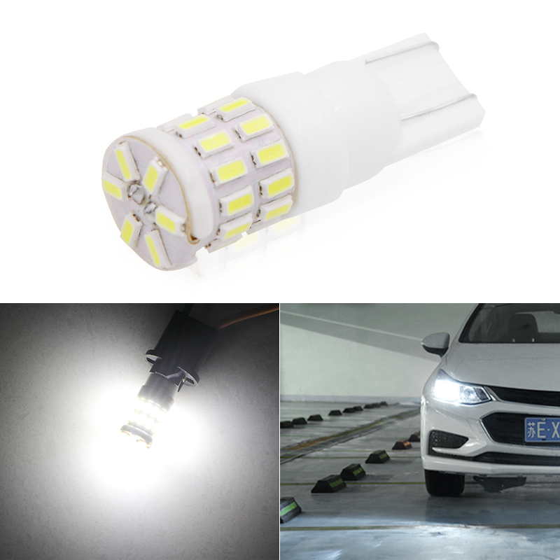 1 pcs <font><b>T10</b></font> W5W Led Bulb WY5W 501 2825 194 168 Ceramic Bulb <font><b>3014</b></font> <font><b>30SMD</b></font> LED Automatic Lamps For Car Reading Dome Lights 6000K image