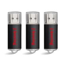цена на 3PCS  J-boxing USB Flash Drive 64GB 32GB 16GB 8GB 4GB Pendrive USB 2.0 Memory Stick Jump Drive Zip Drives for Computer Orange