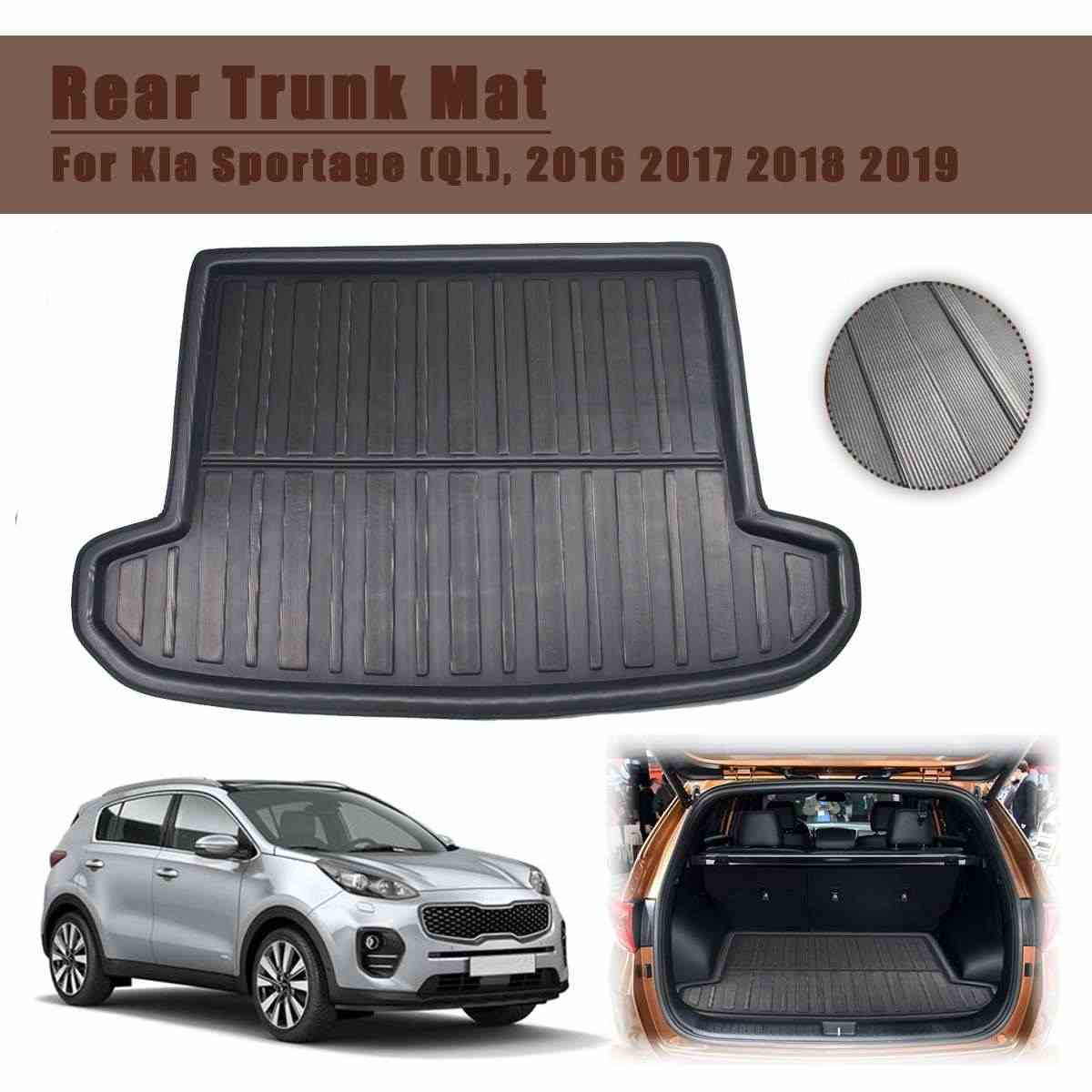 Car Cargo Liner Boot Tray Rear Trunk Cover Matt Mat Floor Carpet Kick Pad For Kia Sportage QL 2016 2017 2018 2019