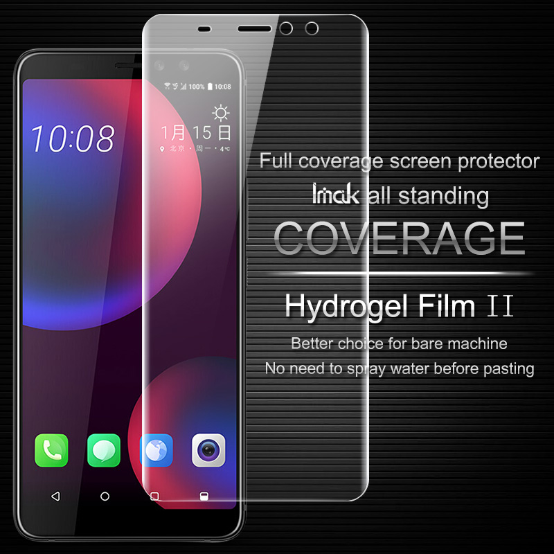 Imak Clear Hydrogel 2th Generation Film for HTC U11 Plus Screen Protector for HTC U11 Eyes 3D Full Cover Protector|Phone Screen Protectors| |  - title=