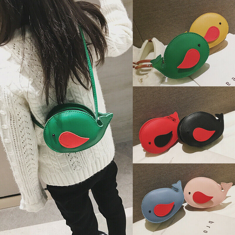 2020 Children Mini Fish Handbag Leather Shoulder Bag Baby Girls Kids Shoulder Bag Messenger Bag Purse Baby Animal Handbag