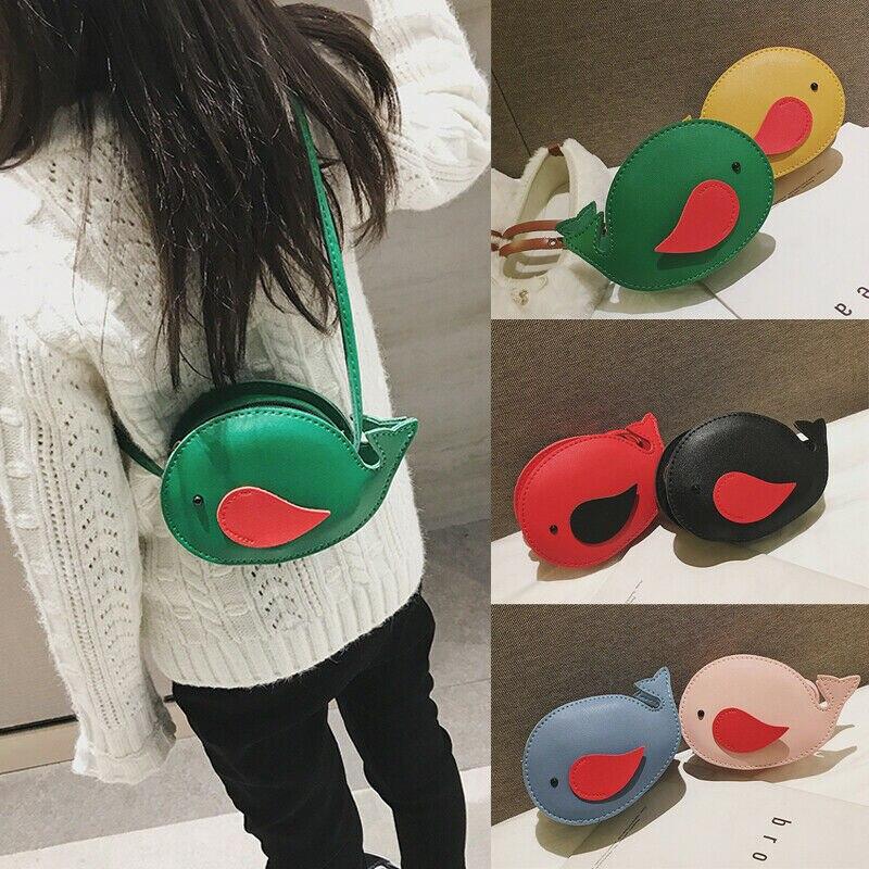 2020 Children Mini Fish Handbag Leather Shoulder Bag Baby Girls Kids Shoulder Bag Messenger Bag Purse Baby Animal Handbag