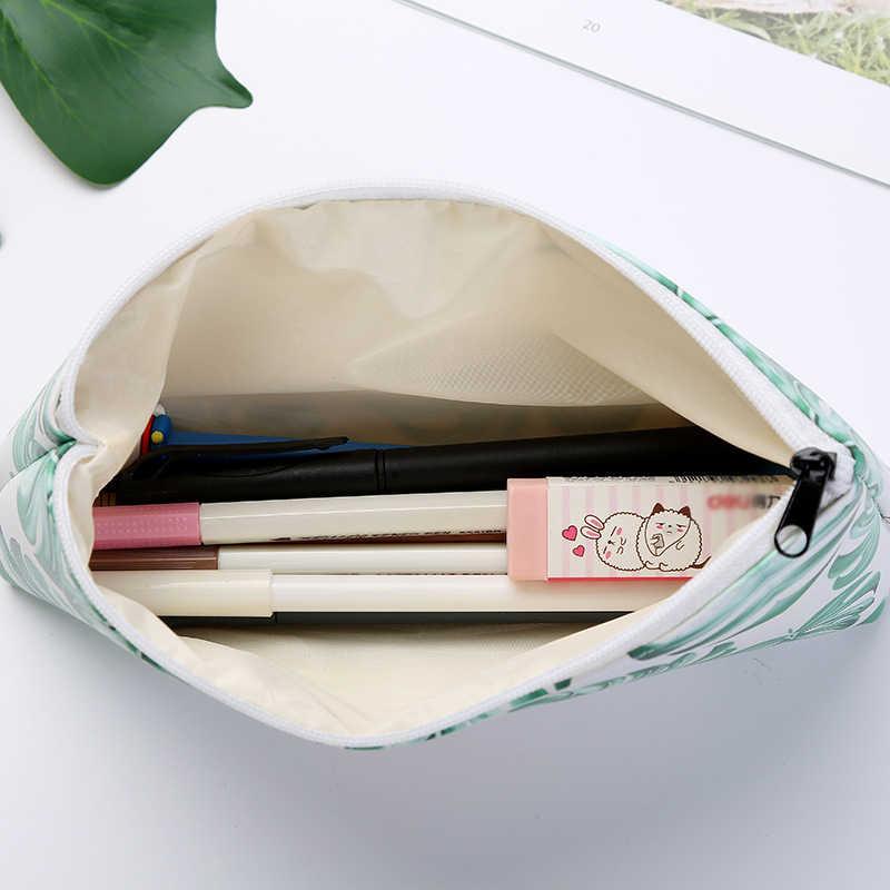 かわいい高校生鉛筆ケースかわいい小さなグリーンタートルリーフ文具ペンケースペンバッグボックスギフト用品