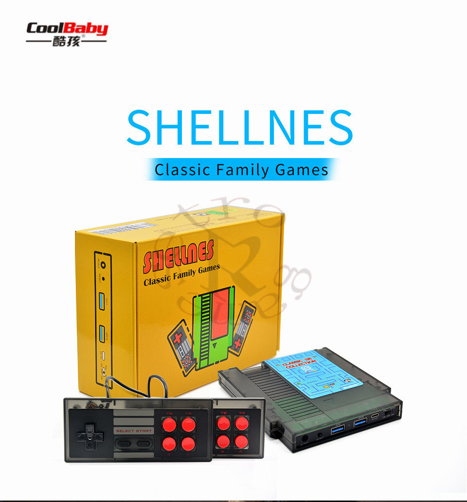 Retro Video Game Console NTSC And PAL-B TV Handheld Built-in 118 Classic Different Games Dual Gamepad 14 games can battery save