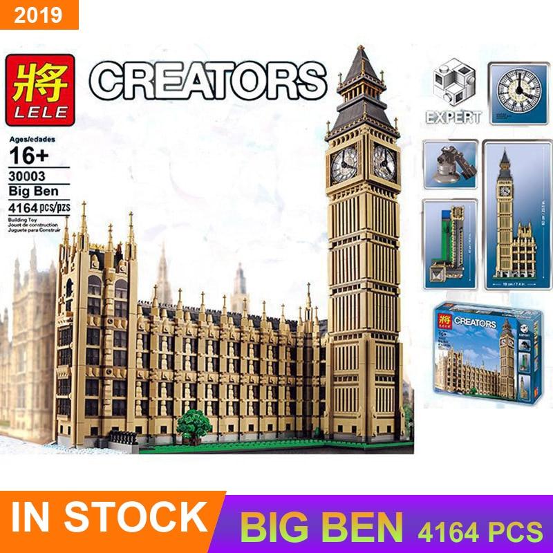Compatible Creator LELE 30003 Big Ben Model Architecture Building Blocks Bricks Streetview Series 10253 Kid DIY Toys