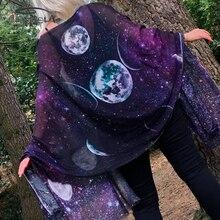 Imily Bela Готическая Пашмина шаль женский квадратный шарф с принтом Модное Длинное пончо тонкое фиолетовое 160 см Echarpe Femme