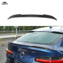 цена на CS style carbon fiber rear trunk spoiler lip for bmw X4 xDrive 20i 28i 35i M40i 2017 - 2020 G02 Car styling back spoiler wing