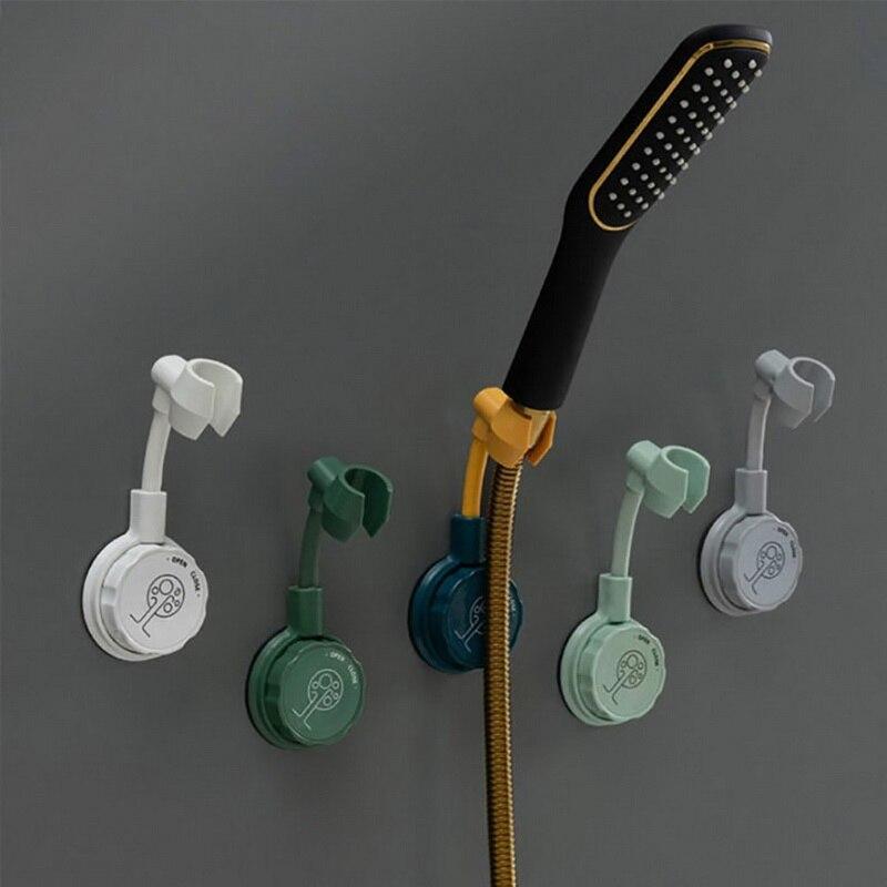 360 ° duş başlığı tutucu Punch-ücretsiz ayarlanabilir duvara monte ayar braketi taban montaj braketleri banyo aksesuarları