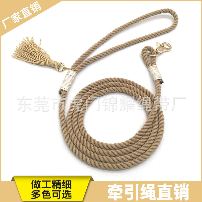 Pet Supplies Hot Selling Pet Dog Cat Small Dog Teacup Dog Traction Cotton Rope Handmade