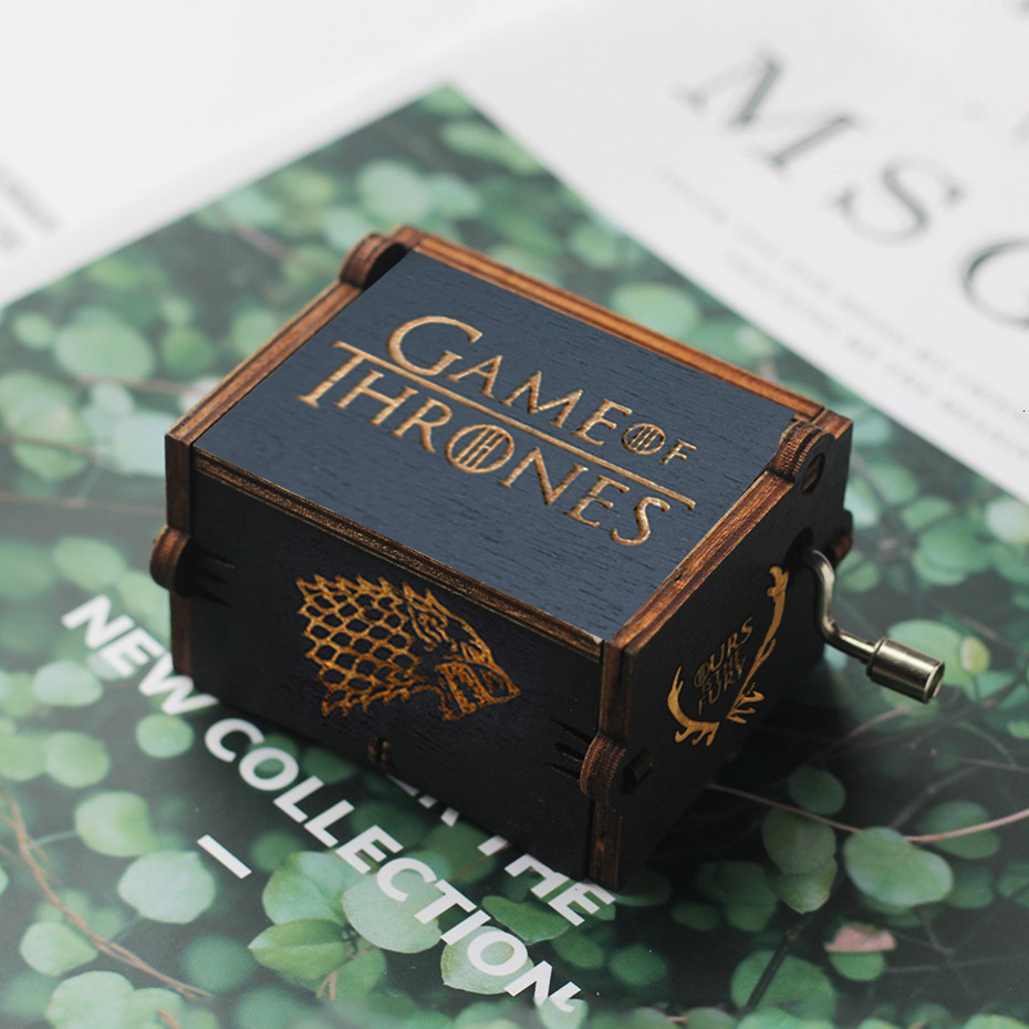 Wooden Hand Crank Game of Thrones Star Wars Juego De Tronos Music Box Theme Wooden Beauty And The Beast Music Box image