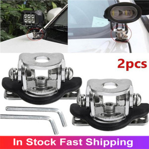 Universal 2 Pcs/Set Stainless Steel Pillar Hood Car Mount Bracket Clamp Holder 304 Offroad Led Work Light Bar Car Accessories