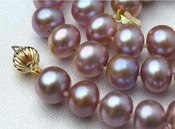 Biżuteria naszyjnik z pereł gorąca sprzedaż w nowym stylu 7-8mm różowy fioletowy Akoya hodowlane perły naszyjnik 17 #8222 darmowa wysyłka tanie i dobre opinie NoEnName_Null Miedzi Kobiety Moc naszyjniki TRENDY Łańcuch liny Pearl Nearround Perły słodkowodne Wszystko kompatybilny