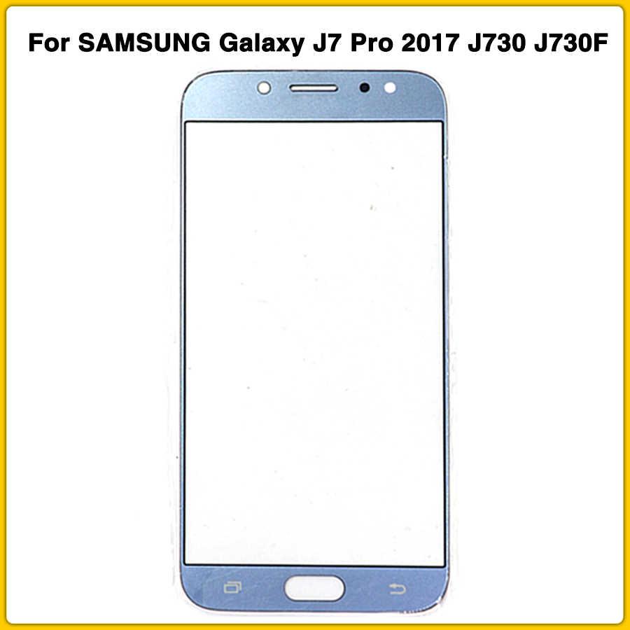 جديد LCD J730 الجبهة الخارجي زجاج عدسة لسامسونج غالاكسي J7 برو 2017 J730 J730F شاشة إل سي دي باللمس غيار للشاشة