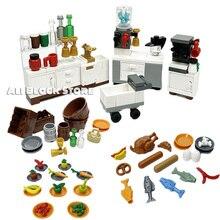 MOC Creator замок тележка питьевой фонтанчик кровать набор телефон будка поделки собрать детали MOC здание блоки кирпичи игрушки подарки