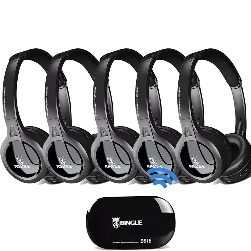 Paquet de 5 2.4G transmetteur sans fil Casque Audio sur l'oreille casques d'écoute pour Samsung, LG, TCL, Xiaomi, Sony, Sharp, Levono, Honor TV