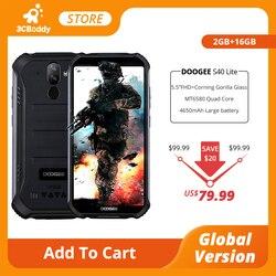 Смартфон DOOGEE S40 Lite защищенный, IP68, 5,5 дюйма, 4650 мАч, 8 Мп, 2 + 16 ГБ, Android 9,0
