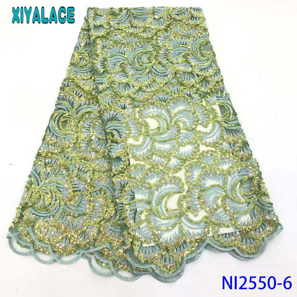 Net Lace Fabric 2019 Africa Lace High Quality Lace Fabric Nigeria Dress Style For Wedding Dress KSNI2550