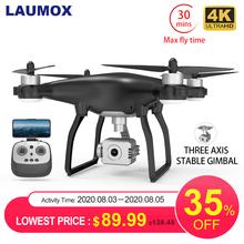 LAUMOX X35 Drone GPS WiFi 4K kamera HD profesjonalny zdalnie sterowany Quadcopter bezszczotkowy silnik drony stabilizator Gimbal 26 minutowy lot tanie tanio 4 k hd nagrywania wideo Kamera w zestawie Brak 1000m build-in 6 Axis Gyro Naprawiono ostrości 4 kanałów 2 4Ghz K20 SG906 PRO F11 E520 F3