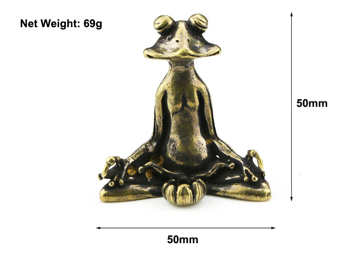 brass frog statue ornaments (1)