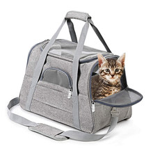Bolsas de transporte para mascotas con cierre de seguridad, cremalleras de asiento de coche, portátiles y transpirables, plegables, para perros y gatos