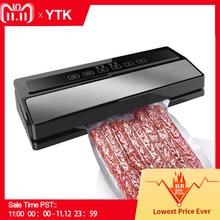 YTK Vacuum Sealing Machine Home Best Vacuum Sealer Fresh Packaging Machine Food Saver Vacuum Packer Include 5Pcs Bags Free