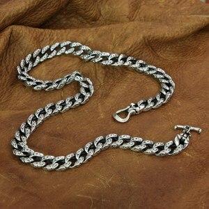 Image 2 - Благоприятное ожерелье с облаками, Серебряное мужское байкерское ожерелье в стиле панк TA155